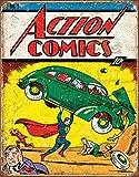 "Desperate Enterprises Action Comics No 1 Cover Tin Sign, 12.5"" W x 16"" H"