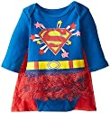 Warner Brothers Baby-Girls Newborn Supergirl Creeper Dress with Cape