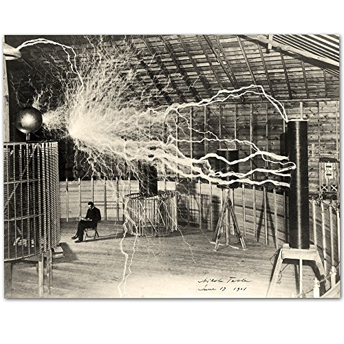 Lone Star Art Nikola Tesla's Lightning Equipment - 11x14 Unframed Print