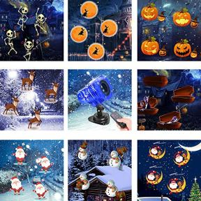 Projection-Light-ANBUY-8-Slides-Animated-Led-Projector-Light-5W-Sata-Claus-Elk-Patterns-Waterproof-IP65-with-Remote-Control-Ideal-for-Decoration-on-Christmas-Halloween-Birthday-Party-Holiday