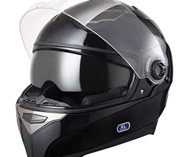 1bf2d2f2 Amazon Com Ahr Dot Motorcycle Full Face Helmet Dual Visors Lightweight Abs  Air Vent Motorbike Touring