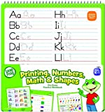 LeapFrog Printing, Numbers, Math and Shapes Dry Erase Practice Workbook for Grades K-1 with Washable Dry Erase Marker (19438)
