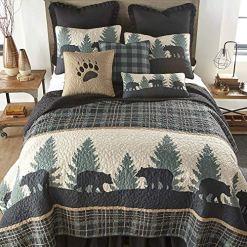 Cabin Lodge Green Quilt Set