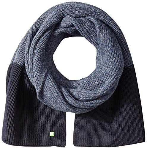 618wkDcDXaL Wool-blend scarf in ribbed color blocking with logo tag at end Size: 30 cm x 180 cm