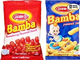Osem Bamba Strawberry & Regular Flavored Peanut Snack Variety Pack!, 0.7 oz (Pack of 12, Total of 8.4 Oz)
