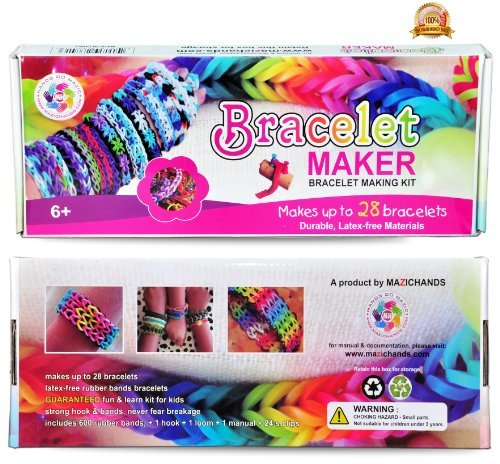 Arts and Crafts for Girls - Best Birthday Toys/DIY for Kids - Premium Bracelet(Jewelry) Making Kit - Friendship Bracelets Maker/Craft Kits with Loom,Rubber Bands