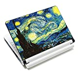 Laptop Skin Sticker Decal,12' 13' 13.3' 14' 15' 15.4' 15.6 inch Laptop Skin Sticker Cover Art Decal Protector Notebook PC (Starry Night)