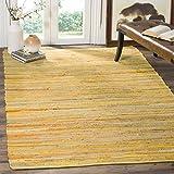 Safavieh Rag Rug Collection RAR130H Hand Woven Yellow and Multi Cotton Area Rug (3' x 5')
