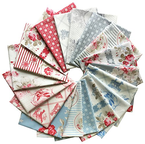 Free Spirit WINTER GARDEN Fat Quarters 18 FQs Precut Cotton Fabric Quilting FQs Assortment