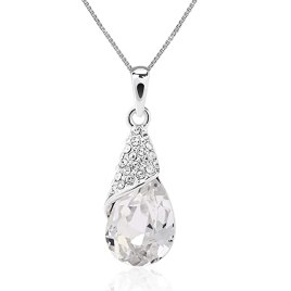 ASHE Elegant Teardrop Pendants Valentine's Day Necklace for Women Bride Wife Girlfriend Birthday from Swarovski