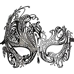 greatly diamante rhinestone luxury venetian style metal filigree masquerade mask prom ball dress sexy mask for