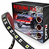 OPT7 60' Redline Flexible LED Tailgate Light Bar - TriCore LED - Weatherproof No-Drill Install Full Featured Reverse Brake Running w/RED Turn Signal 2yr Warranty