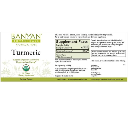 Image result for banyan botanicals turmeric tablets