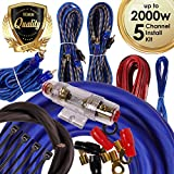 Complete 5 Channels 2000W Gravity 4 Gauge Amplifier Installation Wiring Kit Amp PK2 4 Ga Blue - For Installer and DIY Hobbyist - Perfect for Car / Truck / Motorcycle / RV / ATV