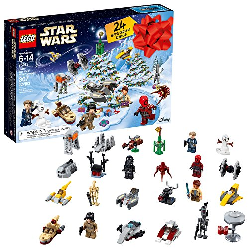 LEGO 6213564 Star Wars TM Advent Calendar, 75213, New 2018 Edition, Minifigures, Small Building Toys, Christmas Countdown Calendar for Kids (307 Pieces), Multi-Color