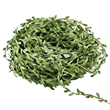 Acerich Artificial Vines, 132 Ft Fake Hanging Plants Silk Ivy Artificial Leaf Garlands Simulation Foliage Rattan Green Leaves Decorative Home Wall Garden Wedding Party Wreaths Decor