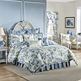 WAVERLY Floral Engagement Bedding Collection, Queen, Porcelain