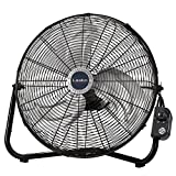 Lasko 20' High Velocity QuickMount, Black-Easily Converts from a Floor Wall Fan, 7 x 22 x 22 inches 2264QM