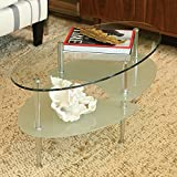 Product review for Walker Edison Glass Oval Coffee Table