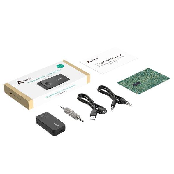 Lieferumfang - Aukey Bluetooth 4.1 Empfänger Auto Adapter