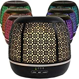 Secret Garden Essential Oil Diffuser, Ultrasonic Aromatherapy Humidifier, 500ml (Black)