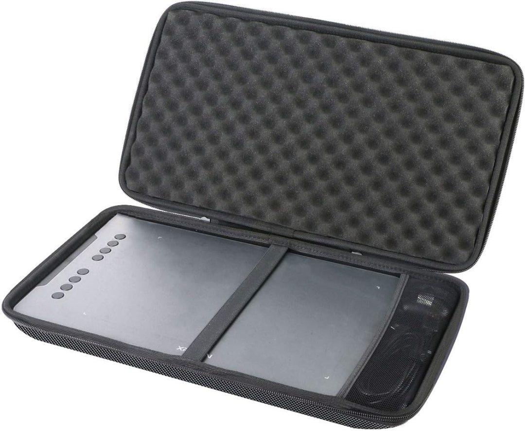 Aenllosi Dur Cas étui de Voyage Housse Porter pour XP-Pen DECO01V2 Tablette Graphique à Dessin 10x6 Pouces
