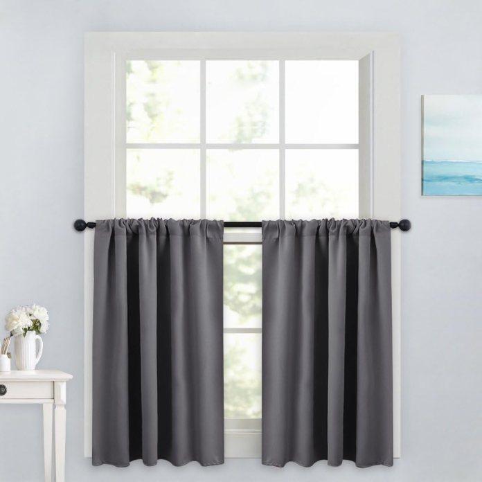 Tailored kitchen curtains