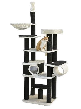 Nanook Dolomit Kratzbaum Hoch Für Große Katzen Xl Katzenbaum Deckenhoch 245 Cm Stabiler Kratzturm Für Schwere Katzen Schwarze Kratzstämme
