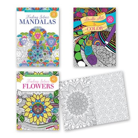 Adult Coloring Books – Set of 3 Coloring Books, Many Different Designs Combined! Mandala Coloring Books for Adults with