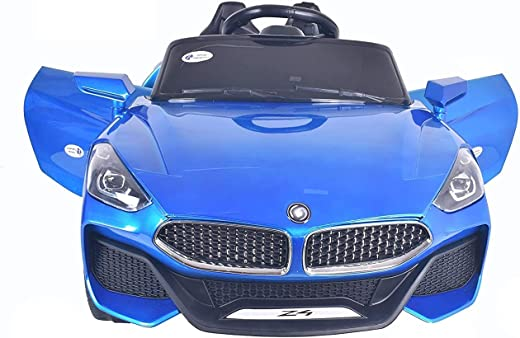 Talreja Enterprises Battery Operated Z4 Ride on Car for Kids, Double Battery Double Motor - Rechargeable (Blue)