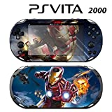 Decorative Video Game Skin Decal Cover Sticker for Sony PlayStation PS Vita Slim (PCH-2000) - Iron Man Superhero
