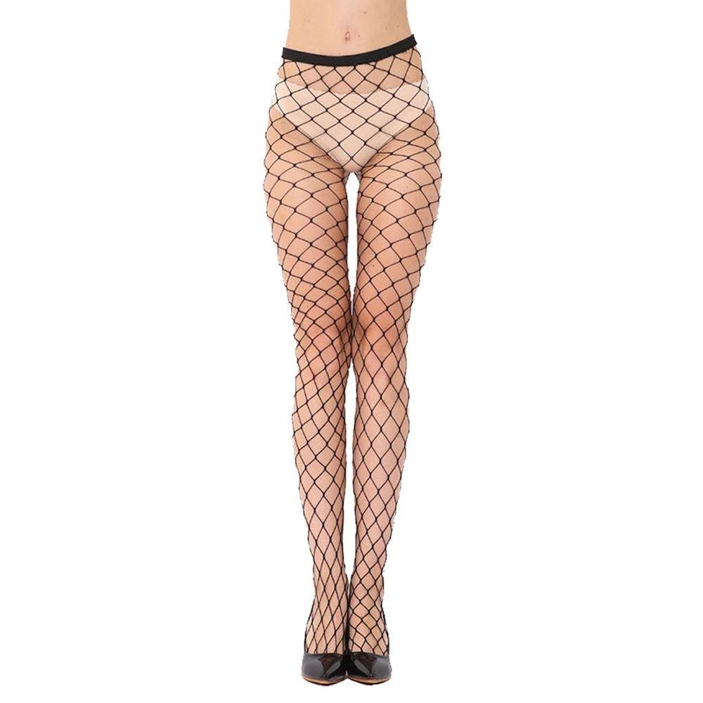 Women Sexy Black Fishnet Net Pattern Burlesque Hoise Pantyhose Tights Black Large Net Amazon Co Uk Clothing