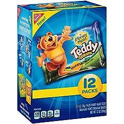 Teddy Graham Crackers (Honey, 1-Ounce Bags, 12 Count)