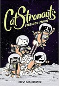 Cover art for CATSTRONAUTS: MISSION TO THE MOON by Drew Brockington