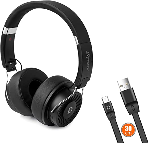 Dipinsure Robust 500 Wireless Headphones with mic On-Ear Earphones with Super Bass (AUX Cable & SD Card Support) - 15 Hours Playtime