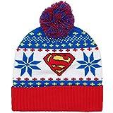 DC Comics Superman Adult Cuff Pom Beanie Hat