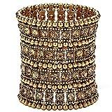 Hiddleston Multilayer 4 Row Jewelry Stretch Bracelet Gift For Women
