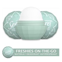 Secret Antiperspirant and Deodorant for Women, Freshies On-the-Go, Cool Waterlily Scent, Travel Size 0.5 oz, 3-count