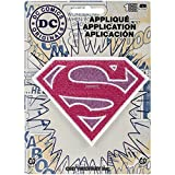 Application DC Comics Originals Supergirl Pink Logo Glitter Patch