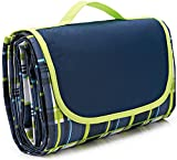 NaturalRays 80x60 Family Picnic Blanket with Tote, Extra Large Foldable and Waterproof Camping Mat for Outdoor Beach Hiking Grass Travel