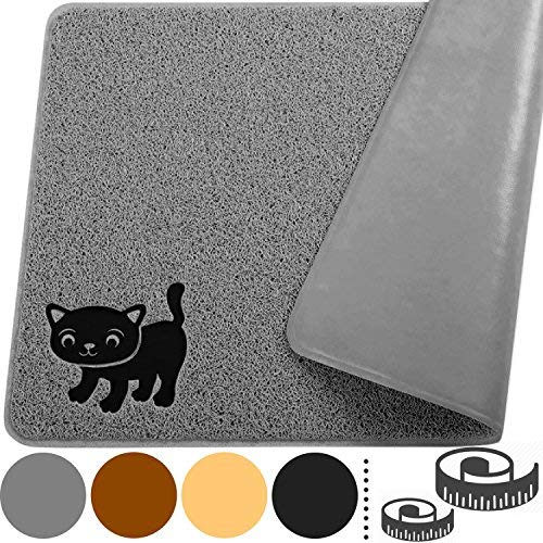 Cat-Litter-Mat-By-Smiling-Paws-Pets-BPA-Free-XL-Size-35x235-Non-Slip-Tear-Scratch-Proof-Easy-to-Clean-Kitty-Litter-Catcher-with-Scatter-Control-Extra-Large-Gray
