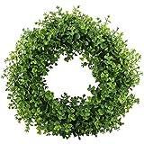 "GTidea 16-17"" Artificial Eucalyptus Wreath Spring Front Door Wreath Greenery Garland Home Office Wall Wedding Decor"