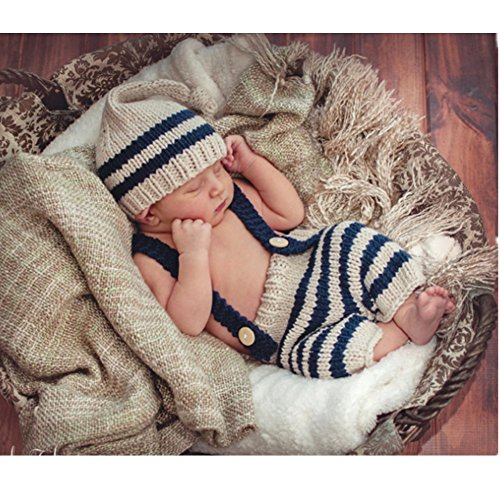 Fashion Newborn Boy Girl Baby Costume Outfits Photography Props Hat Pants