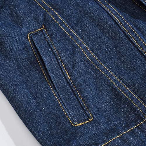 HJuyYuah Men's Autumn Winter Casual Long Sleeve Turn-Down Collar Solid Denim Jacket Coat deal 50% off 61EXwPEgciL