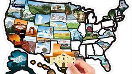 USA Travel Sticker Map - Travel