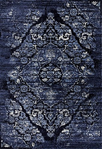 Persian Area Rugs Navy 4620 8X10 Distressed Area Rug Carpet Large New