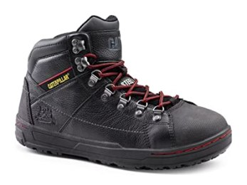 Caterpillar SureGrip Mens Brode Hi SG Steel Toe/Red Slip Resistant Work Shoes Slip Resistant Work Boots 11M