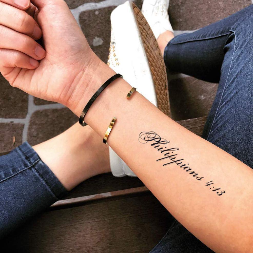 Amazoncom Philippians 413 Temporary Fake Tattoo Sticker Set Of