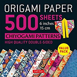 "Origami Paper 500 sheets Chiyogami Patterns 6"" 15cm: Tuttle Origami Paper: High-Quality Double-Sided Origami Sheets Printed with 12 Different Designs (Instructions for 6 Projects Included)"