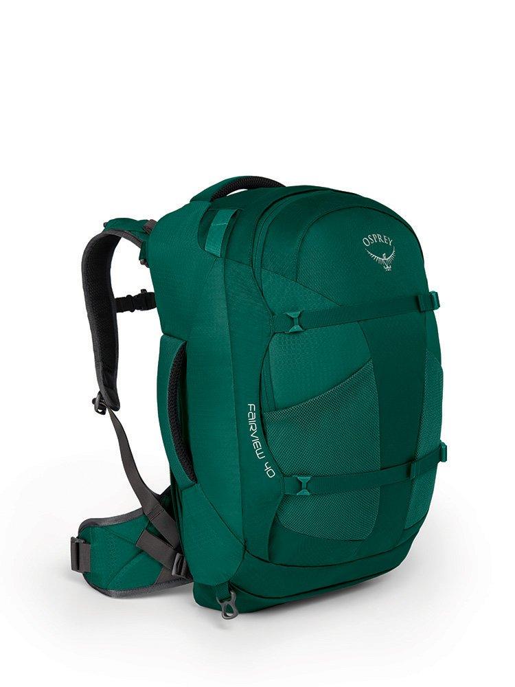 Osprey Packs Fairview 40 Travel Backpack, Rainforest Green, Small/Medium